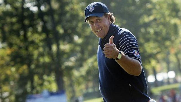 GOLF 2012 Ryder Cup - Mickelson