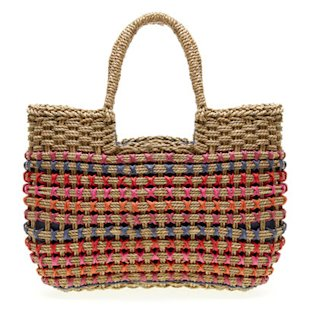 Multi Coloured Straw Shopper Next