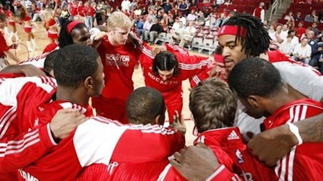 Houston Rockets before a game