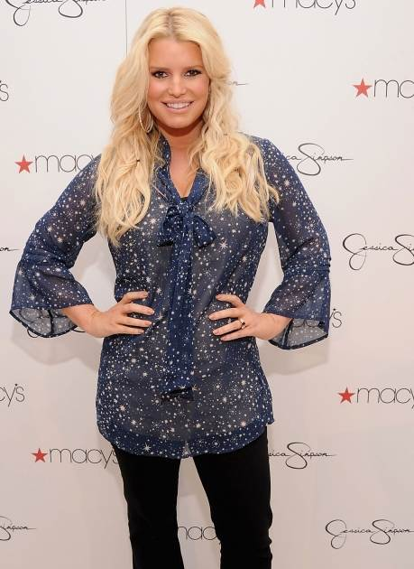 Jessica Simpson visits Macy's South Coast Plaza in support of the Jessica Simpson and Jessica Simpson Girls Collections in Costa Mesa, Calif. on November 10, 2012  -- Getty Images