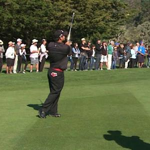 Patrick Reed's excellent approach leads to birdie at AT&T Pebble Beach