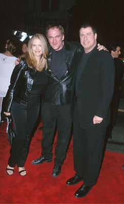 Kelly Preston , Quentin Tarantino and John Travolta at the Mann's Chinese Theater premiere of Warner Brothers' Battlefield Earth