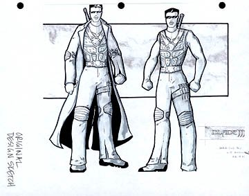 Production design for Blade's look in New Line's Blade: Trinity