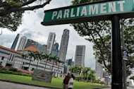 Parliament House sitting against the city skyline in Singapore. (AFP file photo)