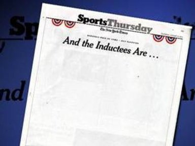 Empty Newspaper Page Captures Baseball Hall of Fame Vote