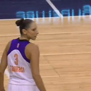 Taurasi from Halfcourt