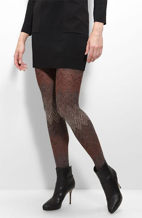 Missoni zigzag tights, $220