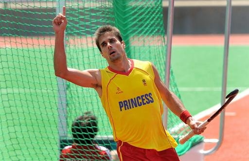 El jugador espaol de hockey sobre csped masculino, Pol Amat.