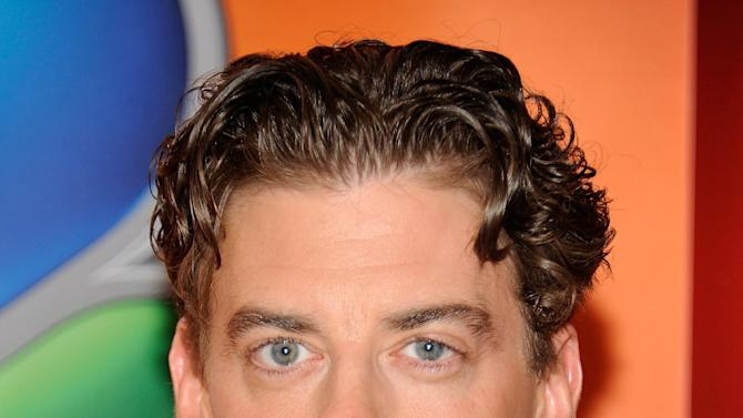 """FILE - In this Monday, May 14, 2012 file photo, actor Christian Borle arrives for the NBC network upfront presentation at Radio City Music Hall, in New York. Borle will be leaving """"Peter and the Starcatcher"""" on June 30, 2012, to begin work on the new season of NBC's show """"Smash."""" (AP Photo/Evan Agostini, File)"""
