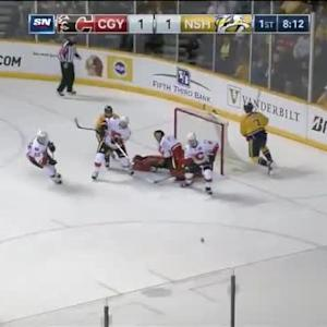 Jonas Hiller Save on Seth Jones (11:49/1st)