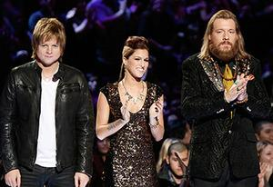 Terry McDermott, Cassadee Pope, and Nicholas David | Photo Credits: Tyler Golden/NBC