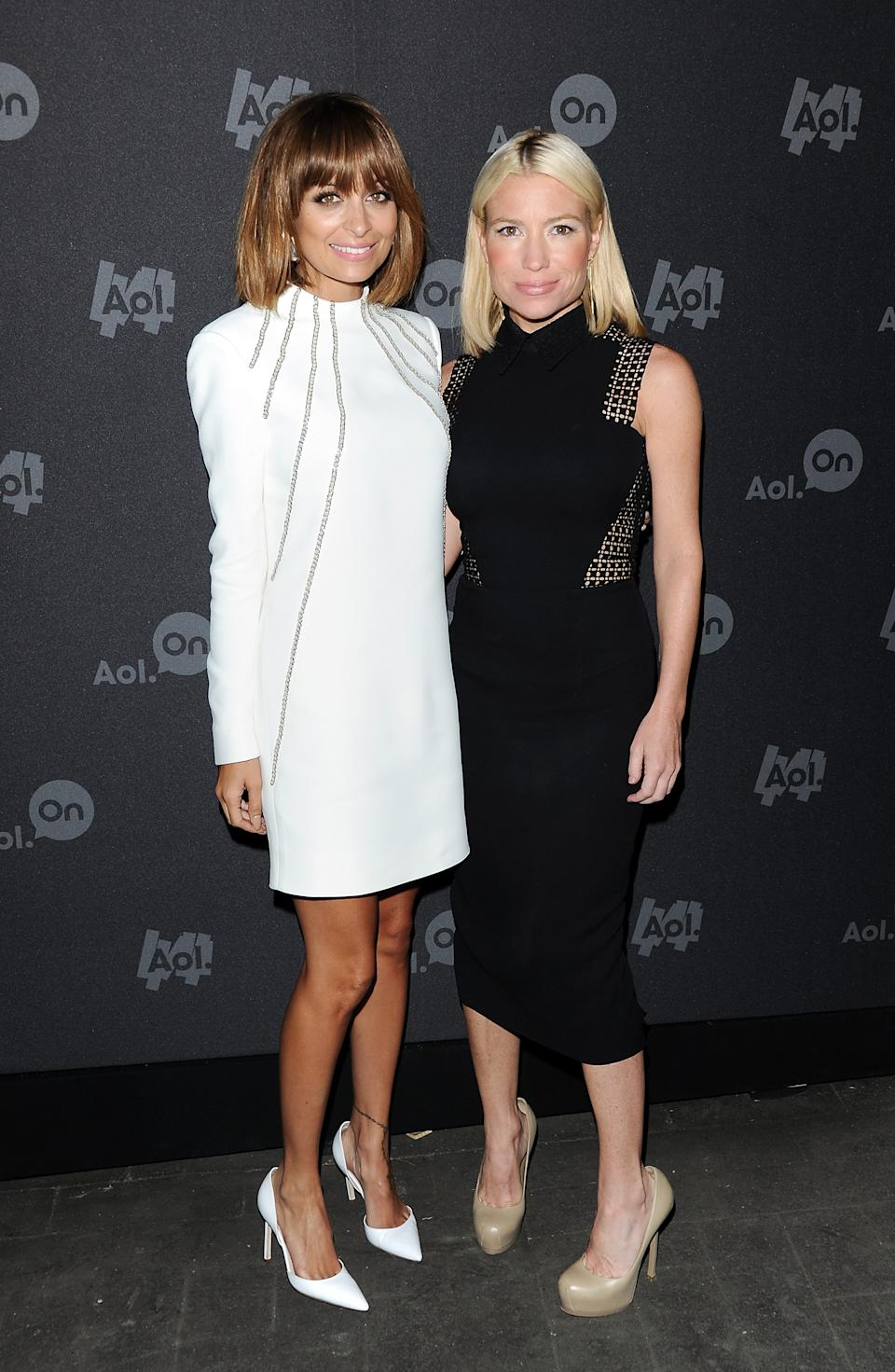 "Nicole Richie, left, and fitness trainer Tracy Anderson attend AOL's web series ""NewFront"" at Moynihan Station on Tuesday April 30, 2013 in New York. (Photo by Evan Agostini/Invision/AP)"