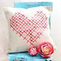Cross-stitch Heart Paint