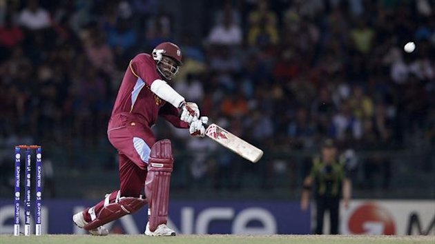 West Indies Chris Gayle plays a shot during their Twenty20 World Cup semi-final cricket match against Australia in Colombo (Reuters)