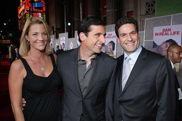 Nancy Walls , Steve Carell and Oren Aviv at the Los Angeles premiere of Touchstone Pictures' Dan in Real Life