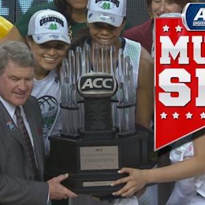 Notre Dame Celebrates First Women's Basketball ACC Tournament Title | ACC Must See Moment