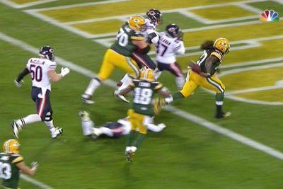 Did Eddie Lacy score this touchdown, or did he pull a DeSean Jackson?