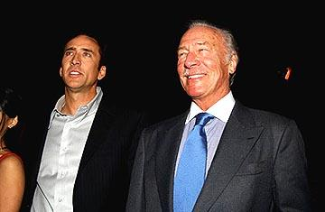 Nicolas Cage and Christopher Plummer at the LA premiere of Touchstone's National Treasure