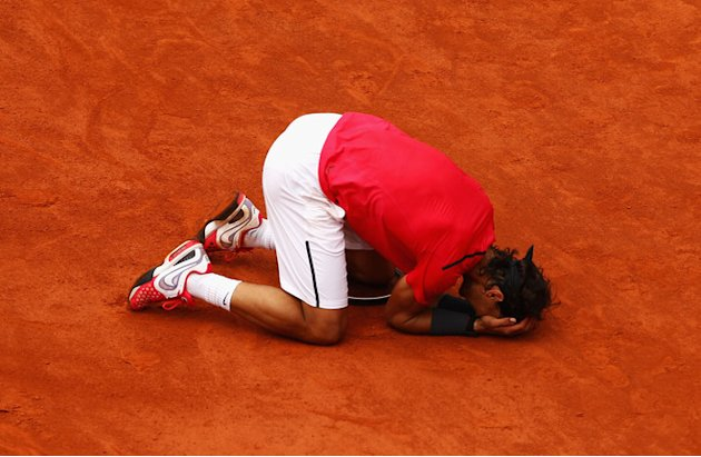 Rafael Nadal Of Spain Celebrates Getty Images