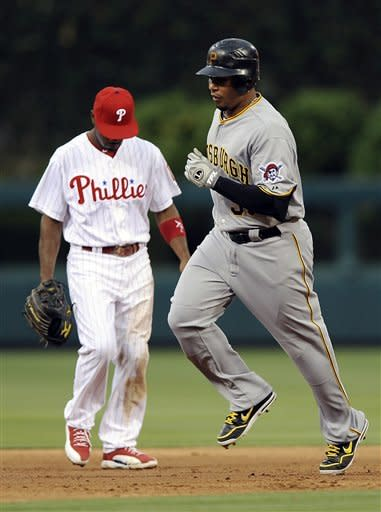 Rollins, Blanton lead Phillies over Pirates, 8-3