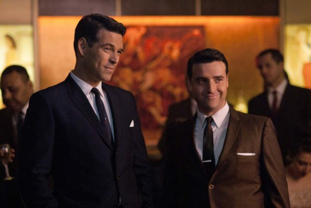 "Eddie Cibrian as Nick and David Krumholtz as Billy in ""The Playboy Club."""