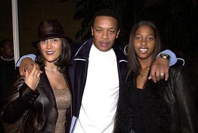 Dr. Dre with his wife Nicole and his daughter Tyra at the Hollywood premiere of Lions Gate's The Wash