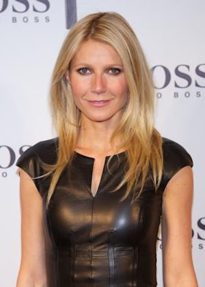 Gwyneth Paltrow presents the new 'Boss Nuit Pour Femme' Hugo Boss parfum at the Neptuno Palace, Madrid, on October 29, 2012 -- Getty Images