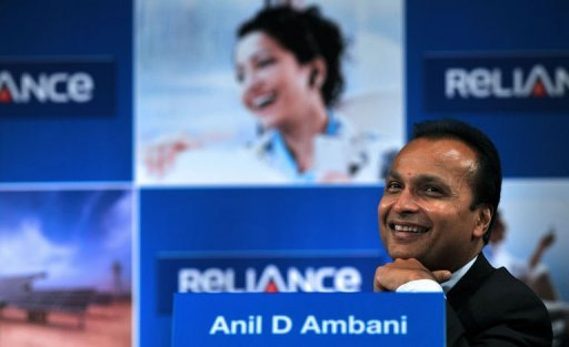 &lt;p&gt;Indian industrialist and Chairman of Anil Dhirubhai Ambani Group Anil Ambani smiles during the annual general meeting of Reliance Power in Mumbai. Shares in India&#39;s Reliance Communications jumped after Ambani told investors the company was intent on reducing its high debt by selling stakes in its subsidiaries.&lt;/p&gt;