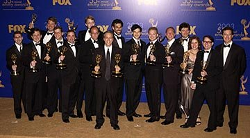 "Jon Stewart and the Daily Show writers Outstanding Writing for a Variety, Music or Comedy Series ""The Daily Show"" 55th Annual Emmy Awards - 9/21/2003"