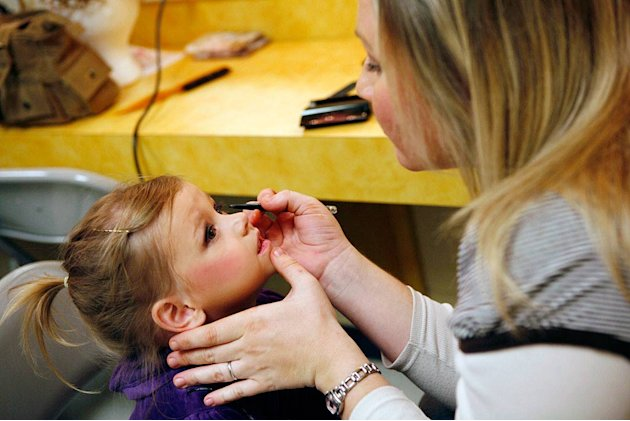 Desiree (age 3) gets her makeup done at the Southern Celebrity Beauty Pageant in Charleston, West Virginia as seen in &quot;Toddlers &amp; Tiaras.&quot; 