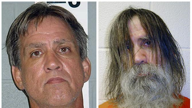 FILE - This file photo combination made from images provided by the Dona Ana County Sheriff's Department in New Mexico, shows Stephen Slevin at the time of his arrest for drunken driving in August 2005, left, and shortly before being released from solitary confinement in May 2007. The southern New Mexico county on Tuesday, March 5, 2013 announced that it reached a $15.5 million settlement to end the legal battle over the case of Slevin, who was held in solitary confinement for two years without a trial and was so neglected that he took out his own tooth. (AP Photo/Dona Ana County Sheriff's Department)