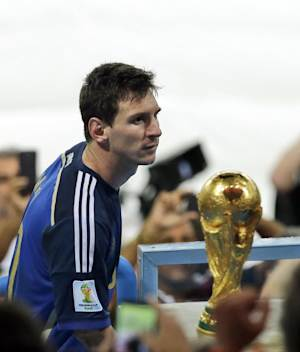 Messi wins award as best player at World Cup