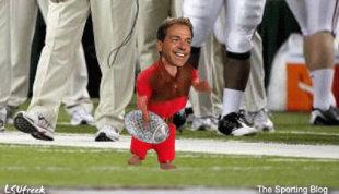 Alabama coach Nick Saban. (Click to see GIF)