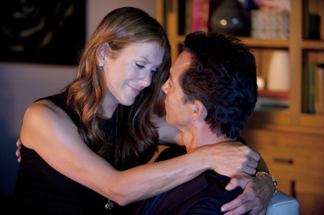 This image released by ABC shows Kate Walsh, left, and Benjamin Bratt in a scene from &quot;Private Practice.&quot; ABC Entertainment spokeswoman Alison Rou said Monday that the Greys Anatomy spinoff will be ending after 13 episodes this season, most likely in January. Series star Kate Walsh had previously announced she would be leaving after 13 episodes. (AP Photo/ABC, Colleen Hayes)