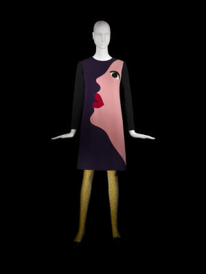 Yves Saint Laurent, Short cocktail dress, Tribute to Tom Wesselmann, haute couture collection, Fall-Winter 1966.