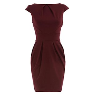 Wine Lampshade Dress Dorothy Perkins: What To Wear: Office: Shift Dresses
