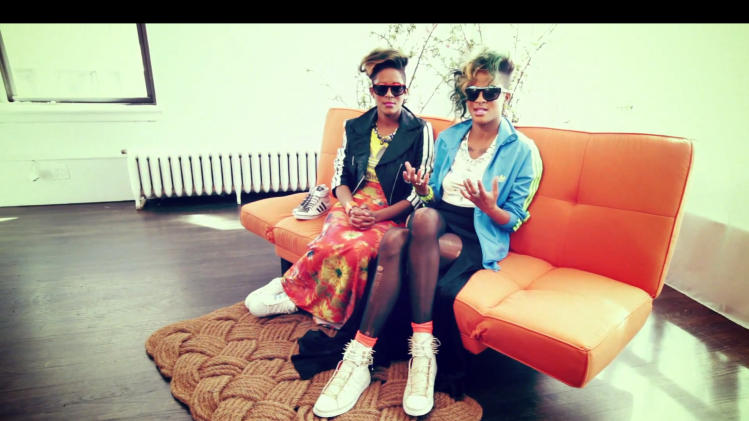 A shot from the White Space Project video with Coco & Breezy