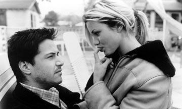 Keanu Reeves and Cameron Diaz in Fine Line Features' Feeling Minnesota