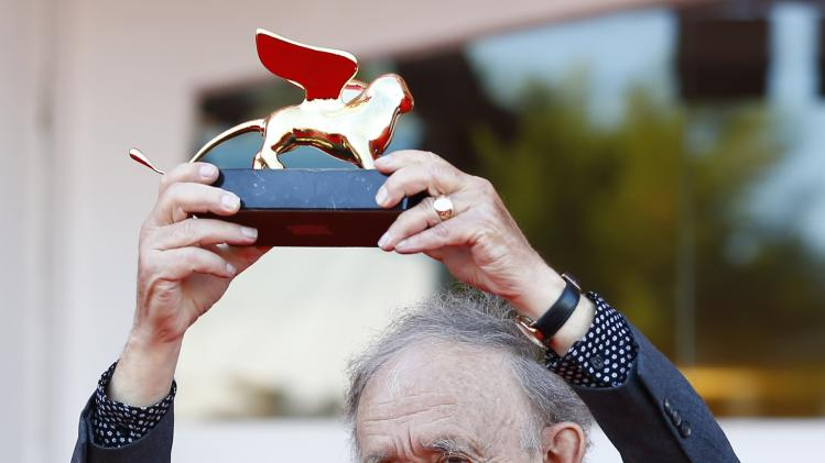 Director Wiseman holds the Golden Lion for lifetime achievement at the 71st Venice Film Festival