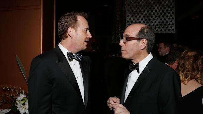 Chairman of NBC Entertainment  Robert Greenblatt, left, and CEO Showtime Networks Matt Blank attend the Fox Golden Globes Party on Sunday, January 13, 2013, in Beverly Hills, Calif. (Photo by Todd Williamson/Invision for Fox Searchlight/AP Images)