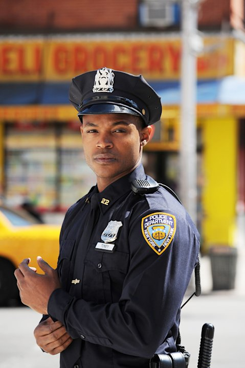 "Harold ""House"" Moore stars as Officer Jayson Toney in ""NYC 22."""