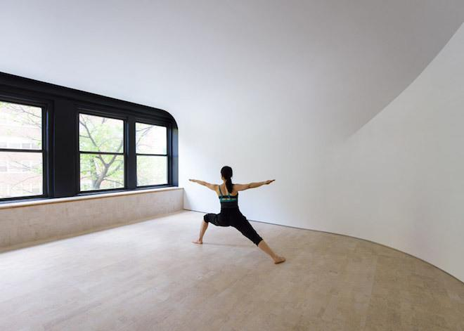 Adventures in Interior Design: Curvy, Minimalist Yoga Studio Aims to 'Transcend Reality'