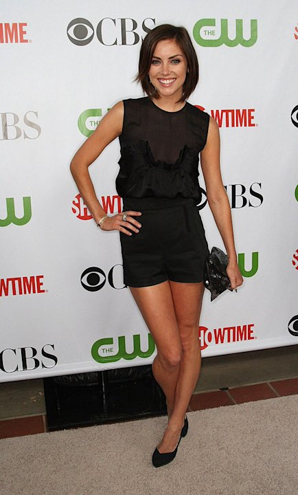 "Jessica Stroup (""90210"") arrives at the CBS, The CW, and Showtime 2009 TCA Summer Tour All-Star Party held at the Huntington Library on August 3, 2009 in Pasadena, California."