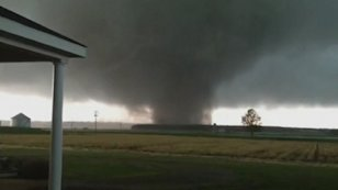 Video still frame of tornado in Mississippi. Credit: Reuters