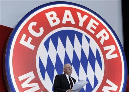 Bayern Munich's President Hoeness arrives for annual meeting of German Bundesliga first division soccer club in Munich