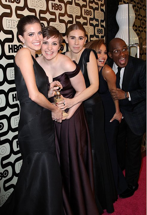 HBO&amp;#39;s Official Golden Globe Awards After Party - Red Carpet: Allison Williams, Lena Dunham and Zosia Mamet
