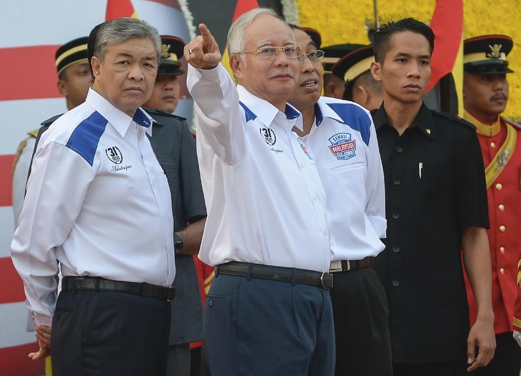 Malaysia PM reasserts command with National Day parade