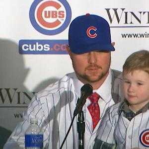 Jon Lester's son steals the show
