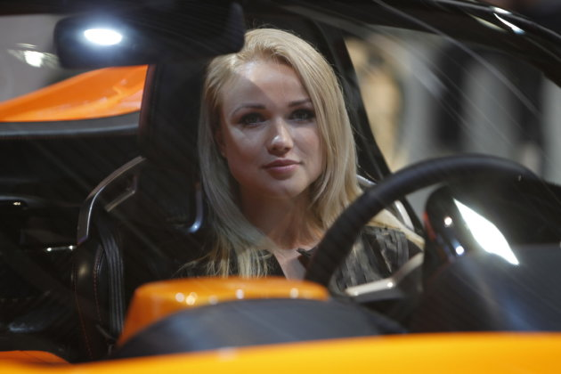Ladies of the 2012 Paris Motor Show