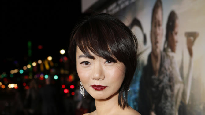 Doona Bae arrives at the Los Angeles premiere of 'Cloud Atlas' at Grauman's Chinese Theatre on October 24, 2012 in Hollywood, California.  (Photo by Todd Williamson/Invision/AP Images)